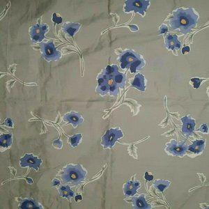 Pottery Barn Floral Euro Shams Blue Green Poppies